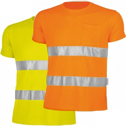 Qualitex Warn-T-Shirt, gelb oder orange