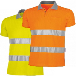 Qualitex Warn-Polo-Shirt, gelb oder orange