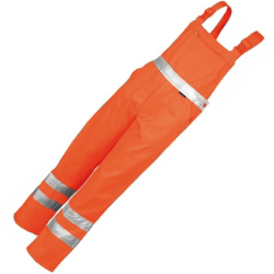 Qualitex Warn-Latzhose, orange
