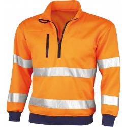 Qualitex Warn-Sweat-Shirt, orange